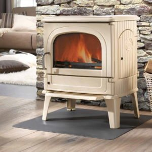 dru 64 mf white enamel multifuel stove deal