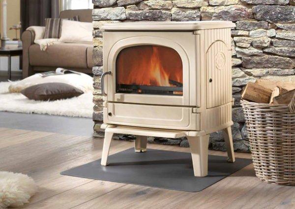 dru 64 mf white enamel multifuel stove deal