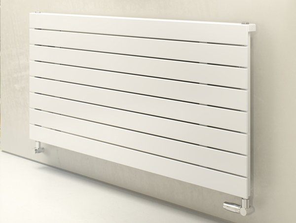 Horizontal white radiators