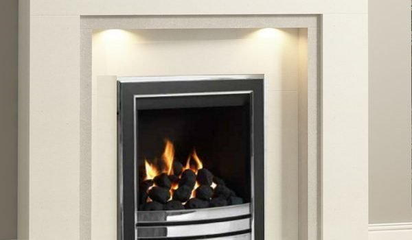 Wildfire Carvello Gas Fire - open fronted in black and chrome