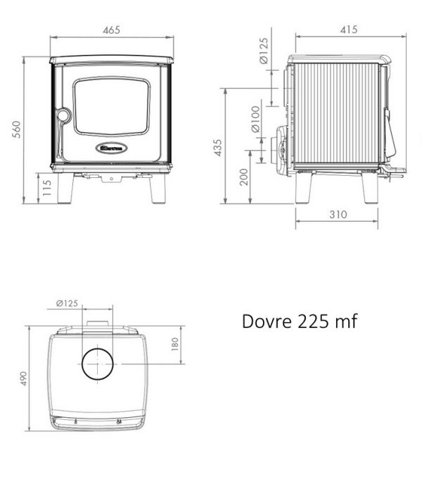 Dovre 225 mf dimensions and drawing