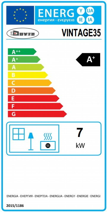 Dovre vintage 35 energy label