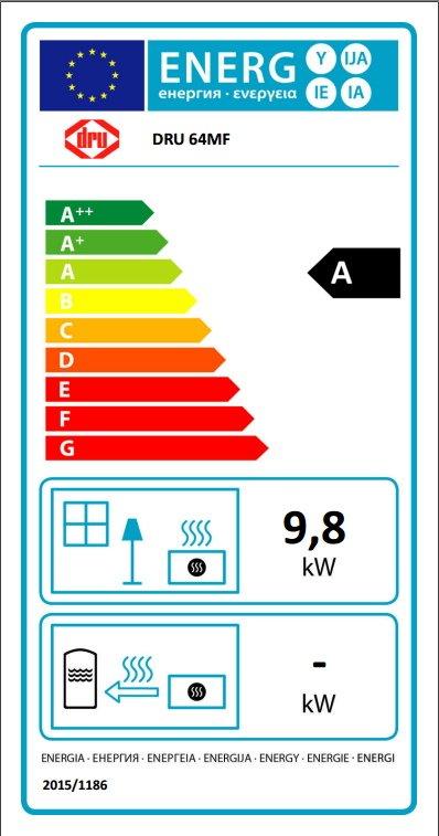 Dru 64 MF stove energy label