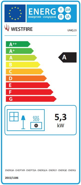 Westfire uniq 23 energy label