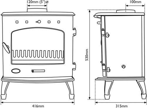 Carron 4.7kw stove energy label