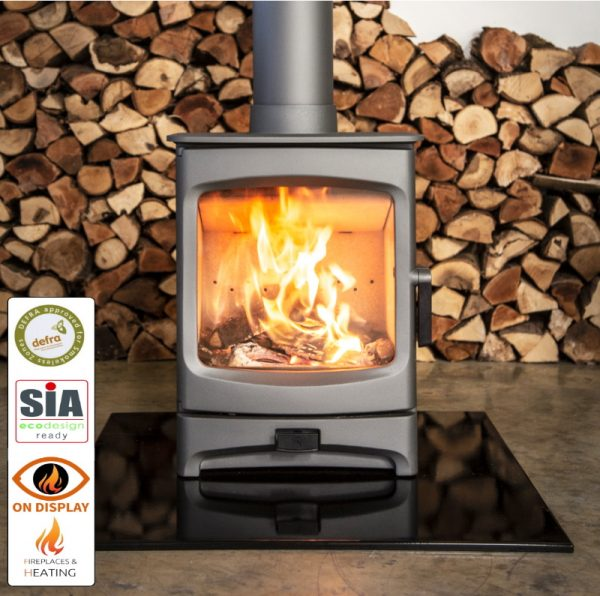 Charnwood Aire 5kw DEFRA and Ecodesign stove on display in Luton