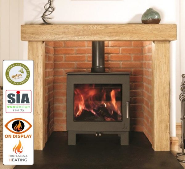 Dean Sherford 5 Eco Slimline stove on display in Luton, bedfordshire