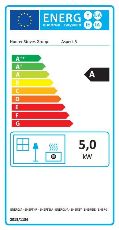 Parkray Aspect 5 Energy Label