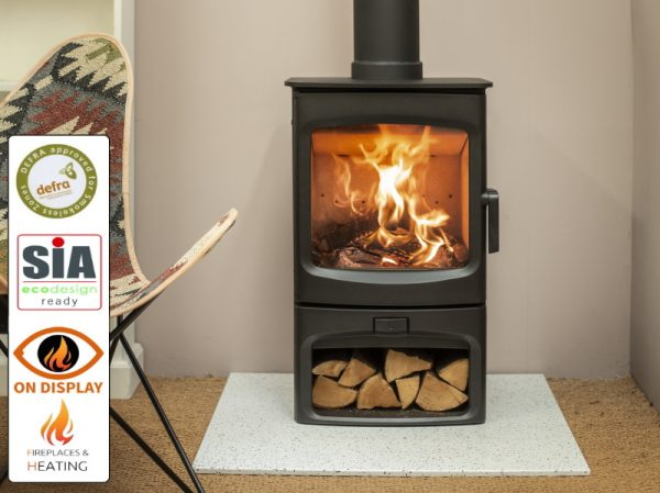Charnwood Aire 5kw stove with log store
