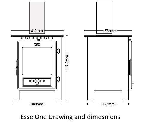 Esse One dimensions line drawing