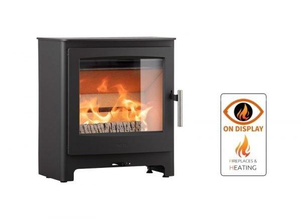 Heta Ambition 5 multifuel stove on display in Luton