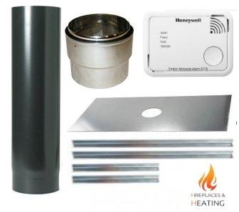 5 inch diameter stove installation kit