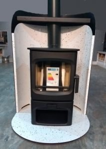 The Charnwood Aire 3 and pod - a great stove for a man cave with optional heatshield