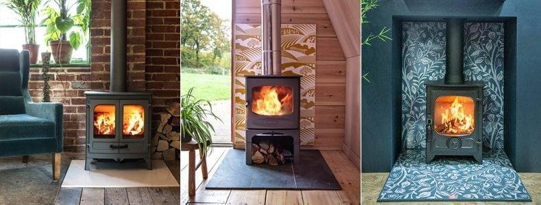 Wood burner stove supply and installation